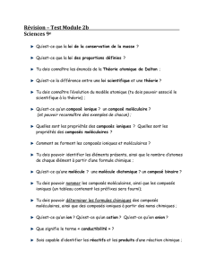 Révision – Test Module 2b Sciences 9 e