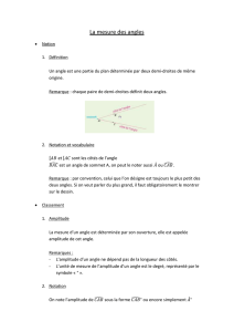 La mesure des angles