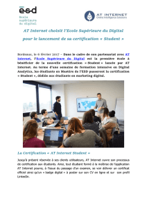 La Certification « AT Internet Student
