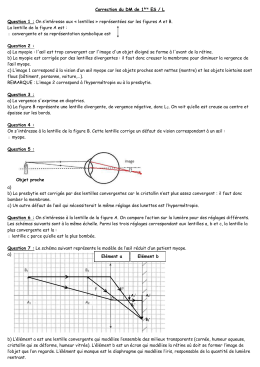 Correction du DM de 1ère ES / L Question 1 : On s`intéresse aux