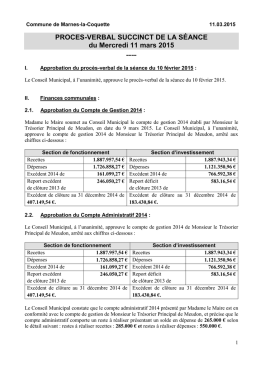 PV succint – 11.03.2015