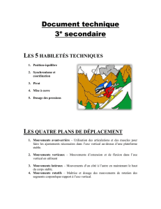 Document technique ski alpin secondaire III