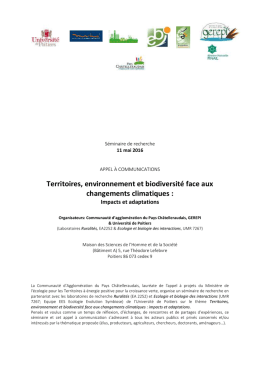 Appel à communication_territoires, biodiversité face
