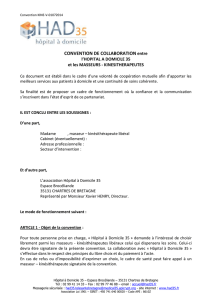 CONVENTION DE COLLABORATION entre
