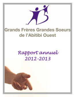 Rapport annuel 2012-2013
