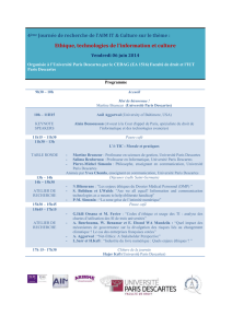 Programme - Université Paris Descartes