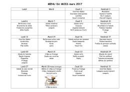 Menus du mois de mars 2017 (document