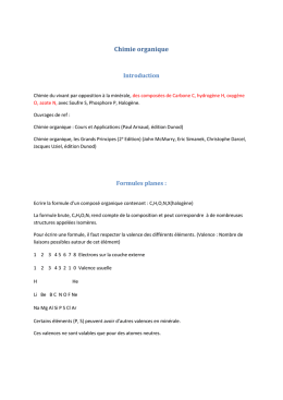 Chimie organique : Cours et Applications (Paul Arnaud