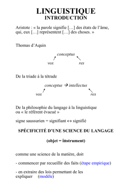 linguistique
