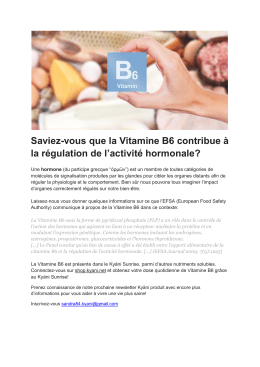 Vitamine b6 sunrise