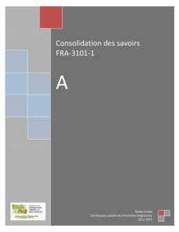Consolidation des savoirs 3101
