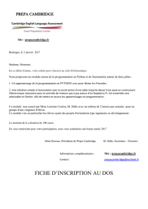 INSCRIPTION au Club d`Informatique