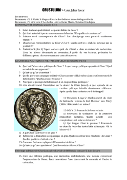 CRUSTULUM > Caius Julius Caesar Les sources : Documents n°1