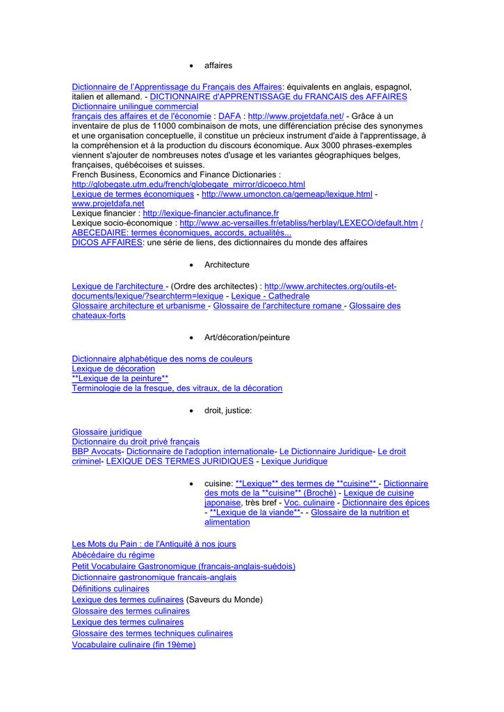 Affaires Dictionnaire De L Apprentissage Du Francais Des Affaires