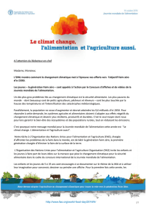 lettres aux journalistes - Food and Agriculture Organization of the