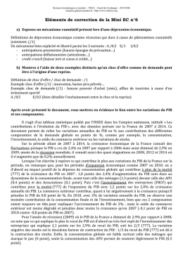 Eléments de correction de la Mini EC n°6