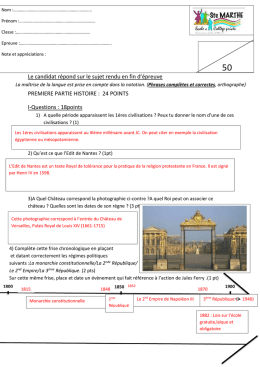 II-Questions sur document (2.5 pts)