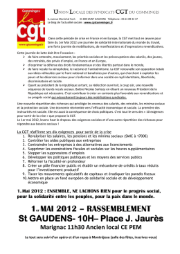 Tract 1er mai Comminges