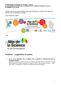 suggestions de postes - Fête de la science et de l`Innovation