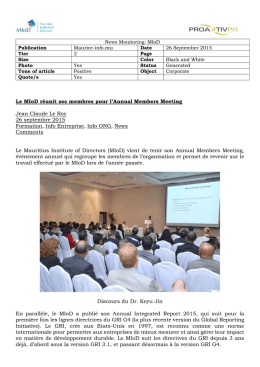 Le MIoD réunit ses membres pour l`Annual Members Meeting