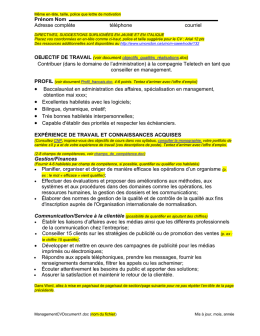 Exemple de CV en management