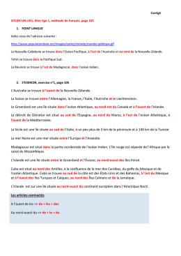 Situer un lieu – exercices page 103/105
