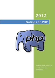 une documentation php