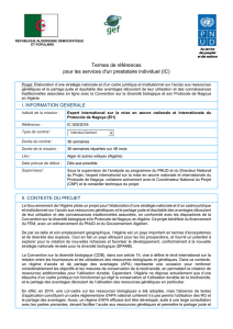 TdR - UNDP | Procurement Notices