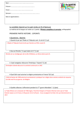 Questions sur document : 4 points