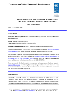 IC/2015/09/040 - UNDP | Procurement Notices