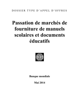 Section VII. Cahier des Clauses administratives