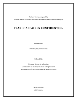 Plan daffaires - Modele a completer - CLD Deux