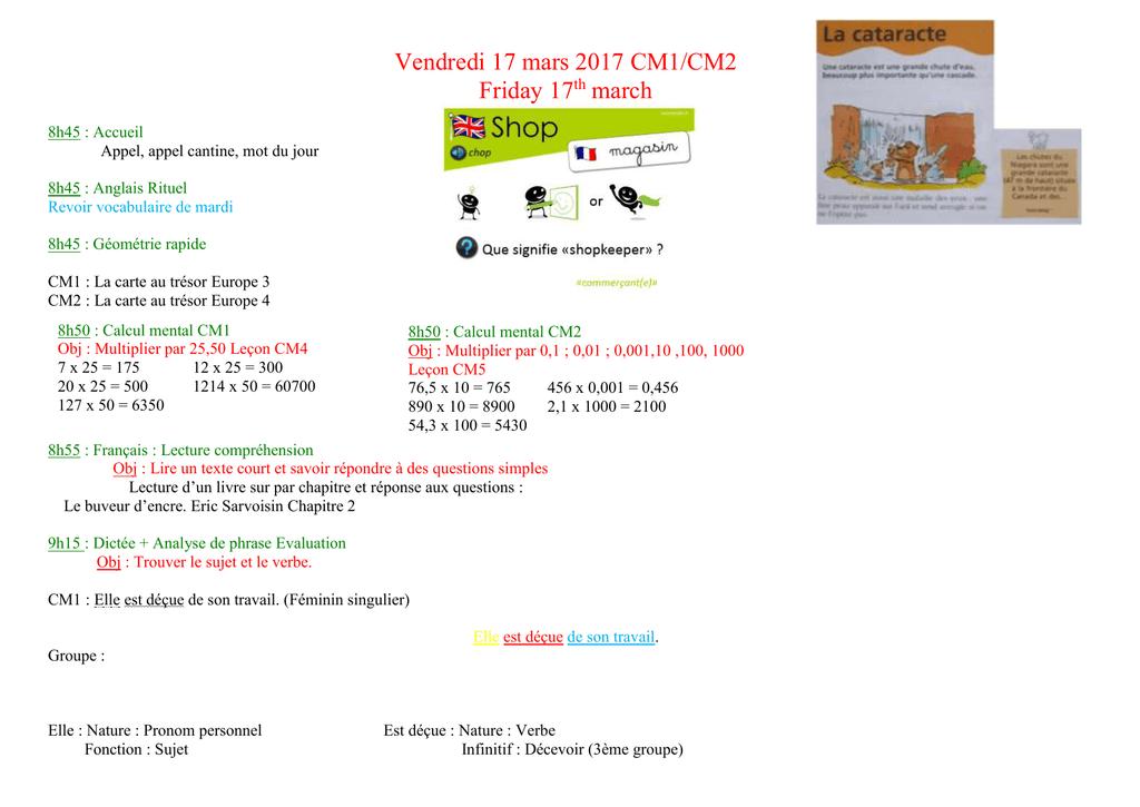 Carte Au Tresor Geometrie.Vendredi 17 Mars 2017 Ecole Primaire Le Chat De Fouqueville