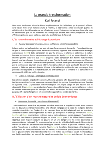 La grande transformation Polanyi Julie - prepa-bl
