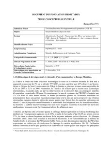 DOCUMENT D`INFORMATION PROJET (DIP) PHASE