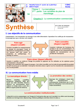 CH08.03 Communication Commerciale Synthèse Correction