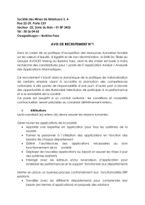 info document - Chambre des Mines du Burkina
