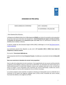 RFQ-2016-038 - UNDP | Procurement Notices