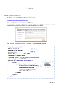 TP : Web Service Exercice 1 : utiliser un service Web On utilisera un