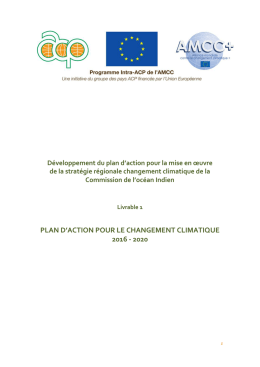Plan d`Action - Global Climate Change Alliance