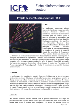 Télécharger ICF Financial Markets Sector Factsheet