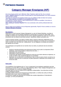 Category Manager Enseignes - nom de domaine : www.neoma