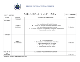 JEDDAH INTERNATIONAL SCHOOL Grade :Quatrième SUBJECT