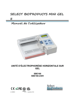 Instruction Manual - Select BioProducts