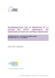 Note de cadrage - Institut National Du Cancer