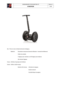 SCEANCE N°1 PRISE EN MAIN I - Description du Gyropode Segway