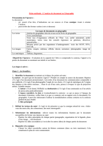 Fiche méthode, l`analyse d`un document, géo