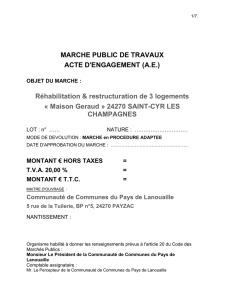 article 5 – approbation du marche