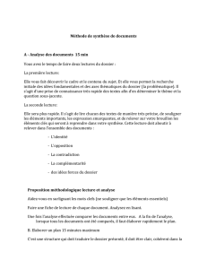 Méthode synthèse de document Fichier
