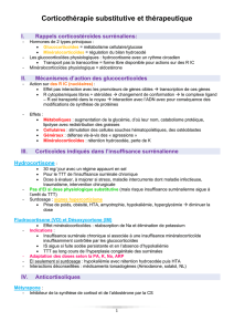 3. Corticotherapie substitutive et therapeutique